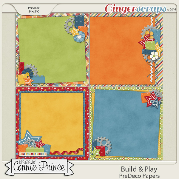 Build & Play - PreDeco Papers