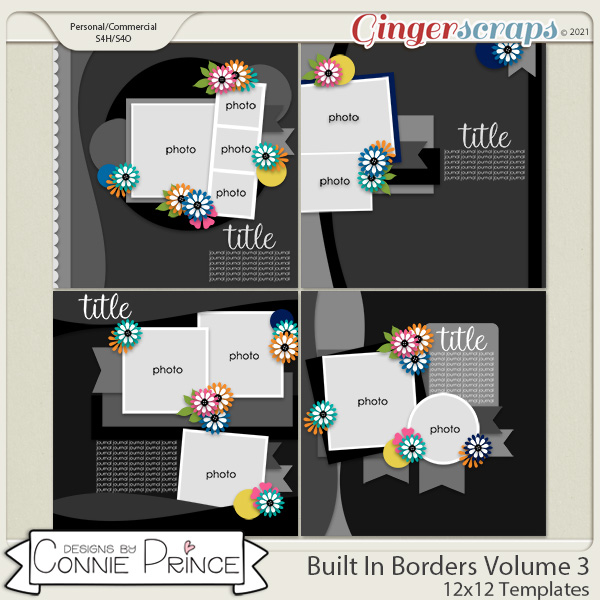 Built In Borders Volume 3 - 12x12 Temps (CU Ok) by Connie Prince