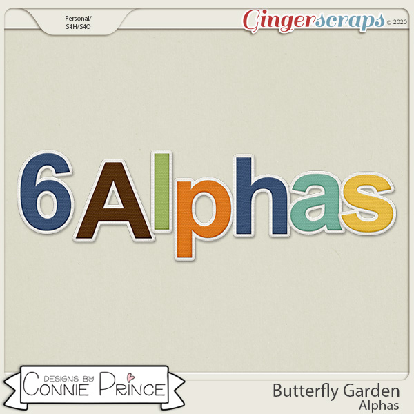 Butterfly Garden - Alpha Pack AddOn by Connie Prince