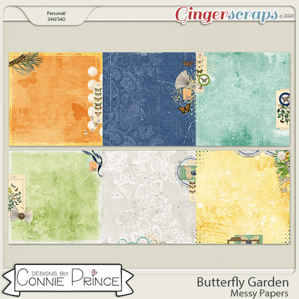 Butterfly Garden - Messy Papers by Connie Prince