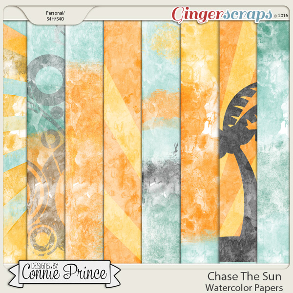 Chase The Sun - Watercolor Paper Pack
