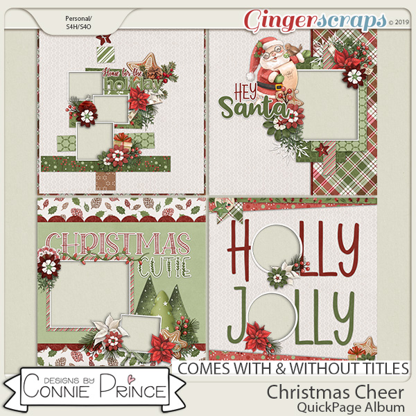 Christmas Cheer - Quick Page Album by Connie Prince.