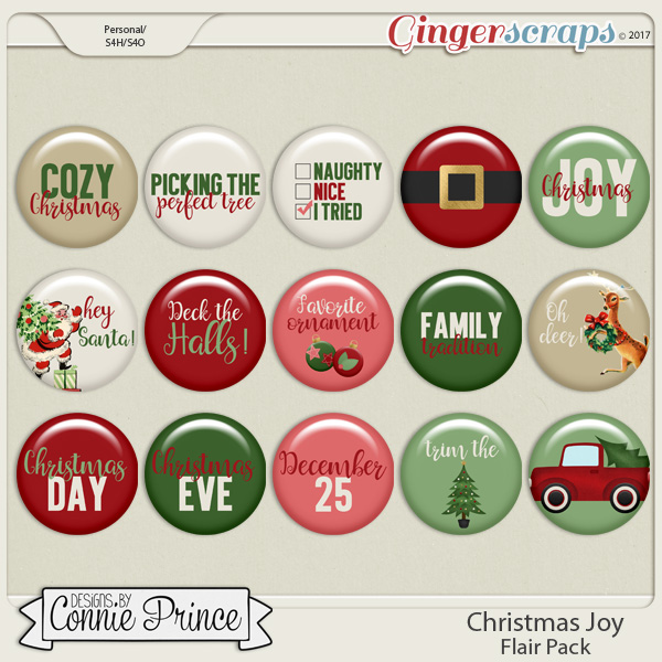Christmas Joy - Flair Pack