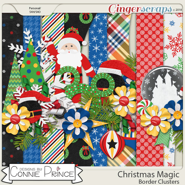 Christmas Magic - Borders by Connie Prince