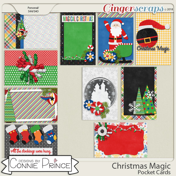 Christmas Magic - Pocket Cards by Connie Prince