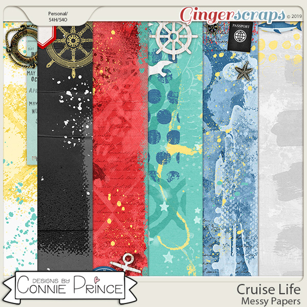 Cruise Life - Messy Papers by Connie Prince