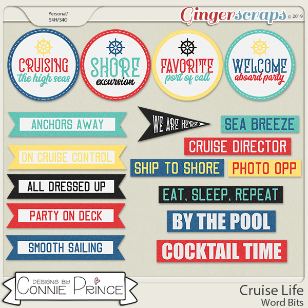 Cruise Life - Word Bits by Connie Prince