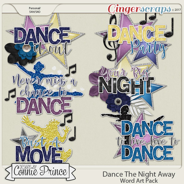 Dance The Night Away - Word Art Pack