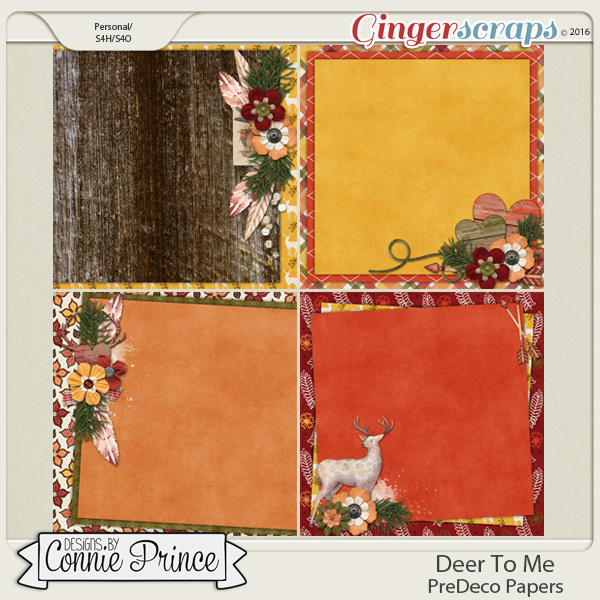 Deer To Me - PreDeco Papers