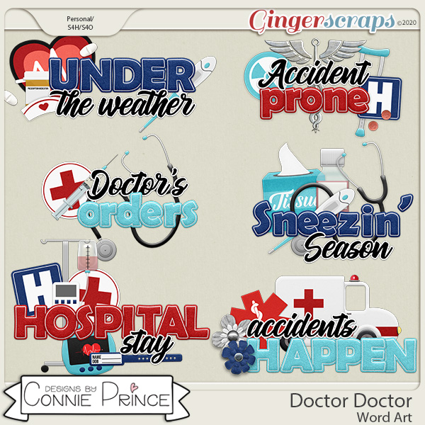 Doctor Doctor - Word Art Pack by Connie Prince