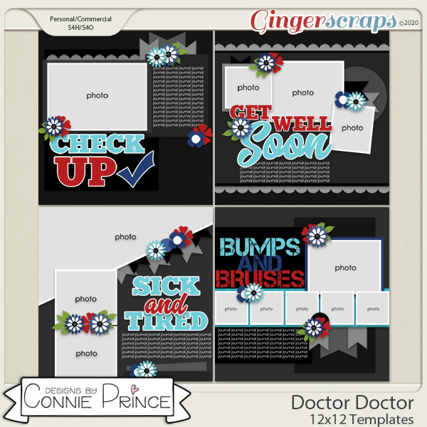 Doctor Doctor - 12x12 Templates (CU Ok) by Connie Prince