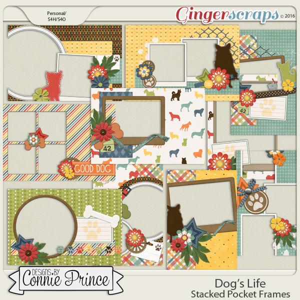 Dog's Life - Stacked Pocket Frames