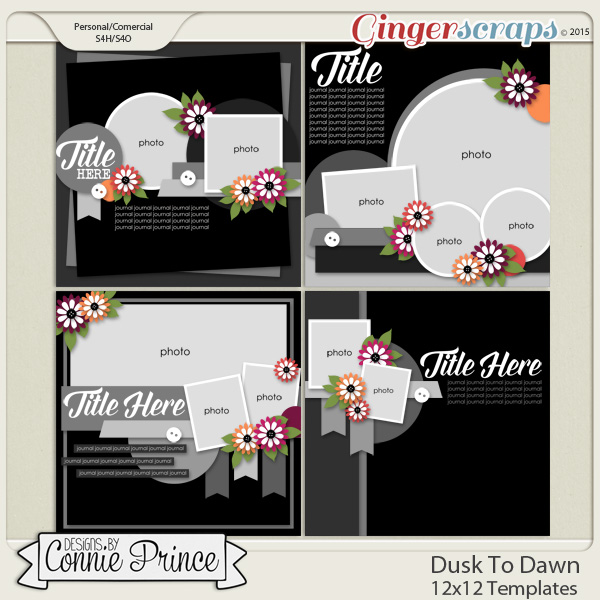 Dusk To Dawn - 12x12 Templates (CU Ok)