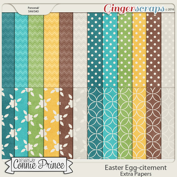 Easter Egg-citement - Extra Papers