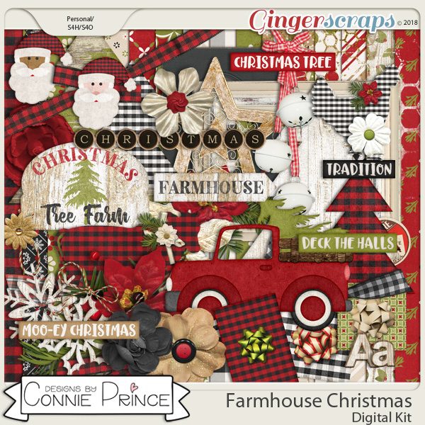 Farmhouse Christmas - Kit by Connie Prince