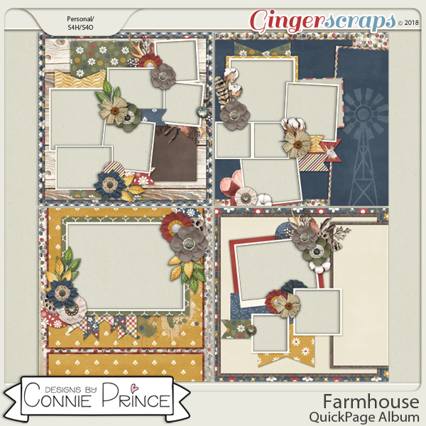 Farmhouse- QuickPages by Connie Prince