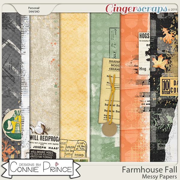Farmhouse Fall - Messy Papers by Connie Prince