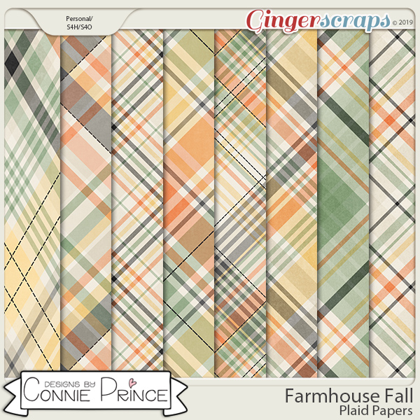 Farmhouse Fall - Plaid Papers by Connie Prince