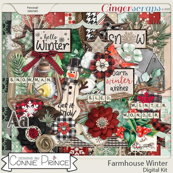 Farmhouse Winter - Kit by Connie Prince