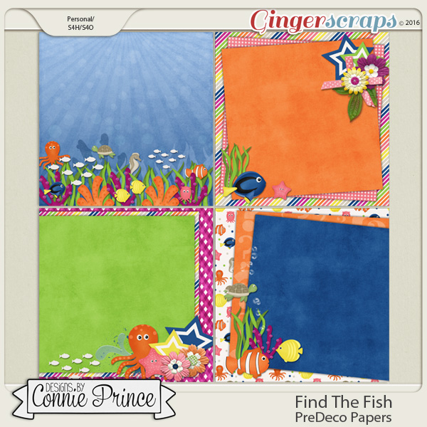 Find The Fish - PreDeco Papers