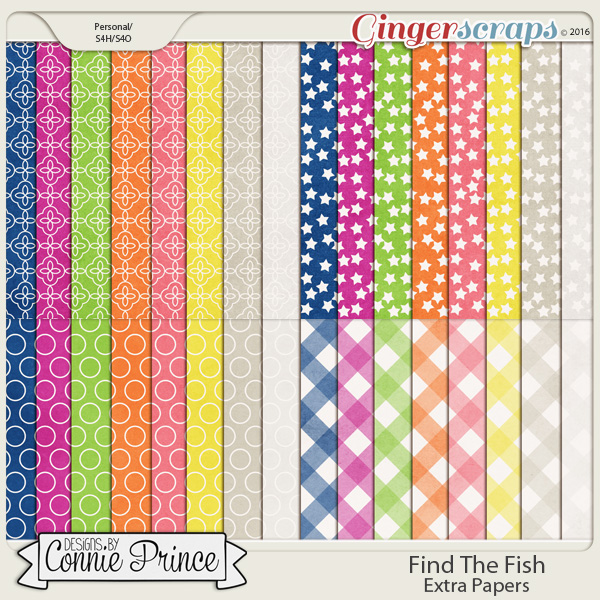 Find The Fish - Extra Papers