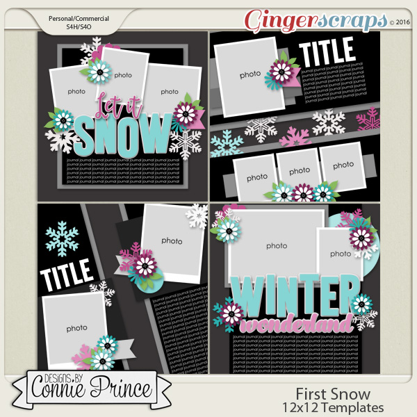 First Snow  - 12x12 Templates (CU OK)