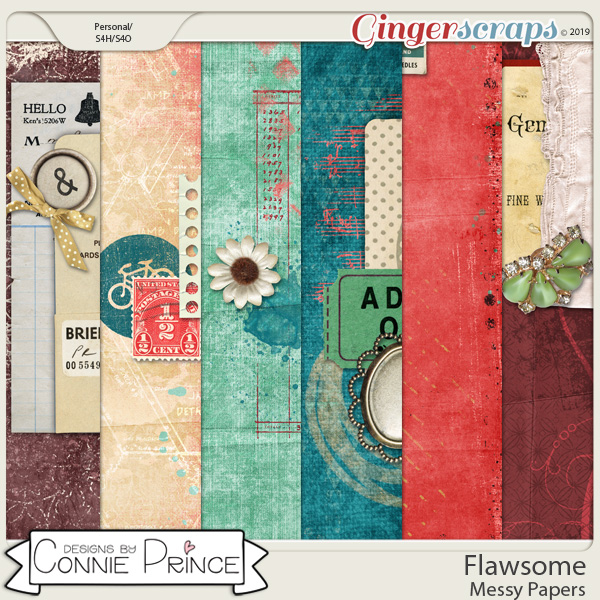 Flawsome - Messy Papers by Connie Prince