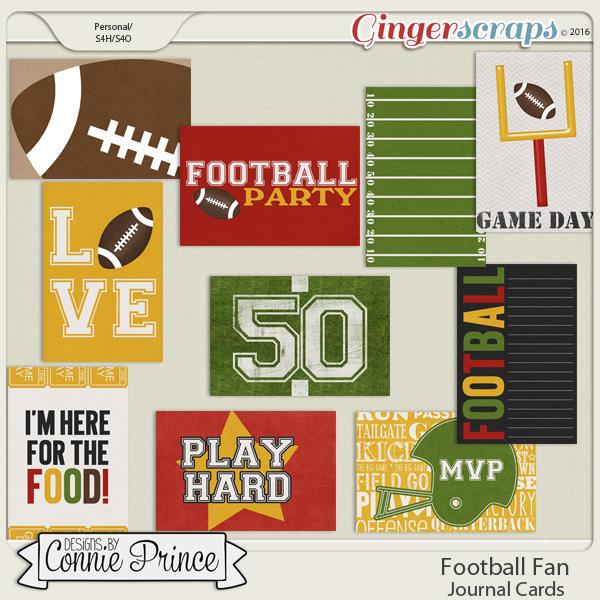 Football Fan - Pocket Journal Cards