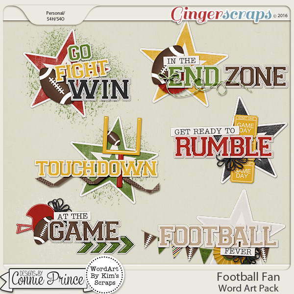 Football Fan - WordArt Pack