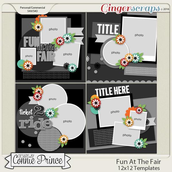 Fun At The Fair - 12x12 Templates (CU OK)