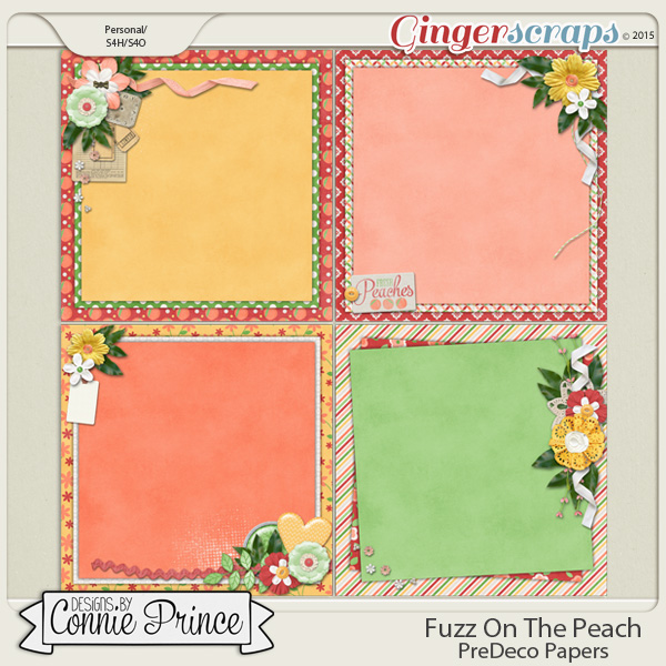 Fuzz On The Peach - PreDeco Papers