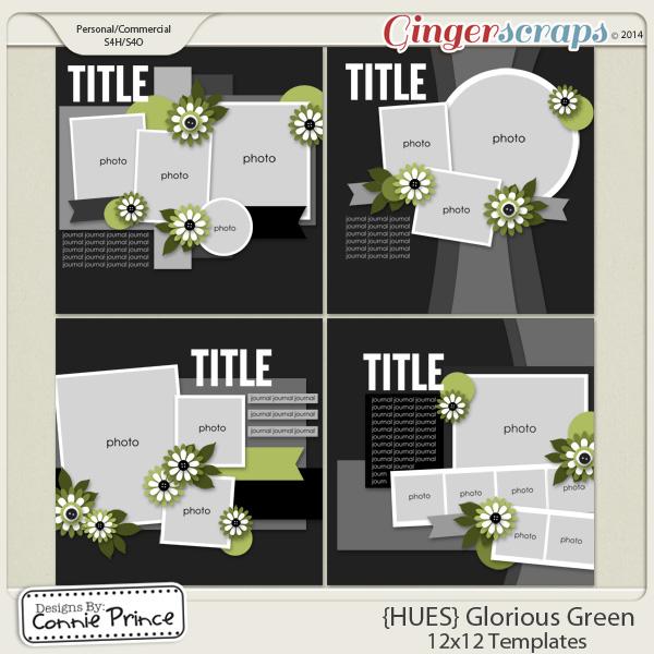{HUES} Glorious Green - 12x12 Temps (CU Ok)