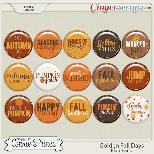 Golden Fall Days - Flair Pack