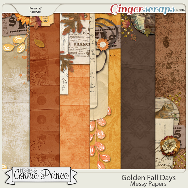Golden Fall Days - Messy Papers