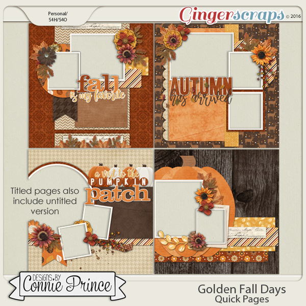 Golden Fall Days - Quick Pages