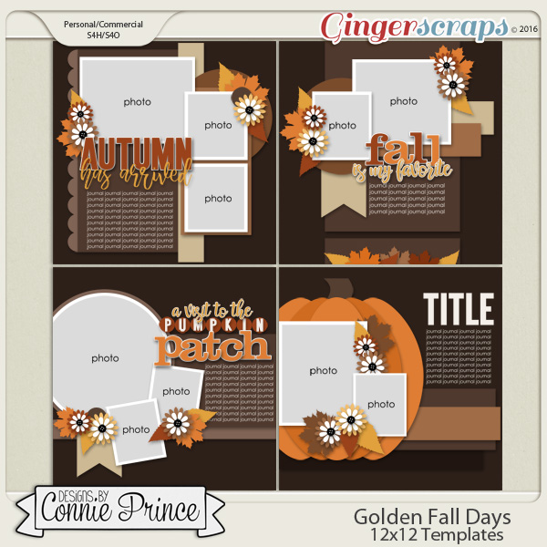 Golden Fall Days - 12x12 Temps (CU Ok)