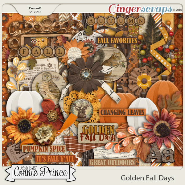 Golden Fall Days - Kit