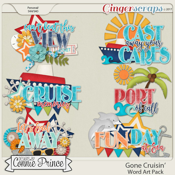 Gone Cruisin' - Word Art Pack