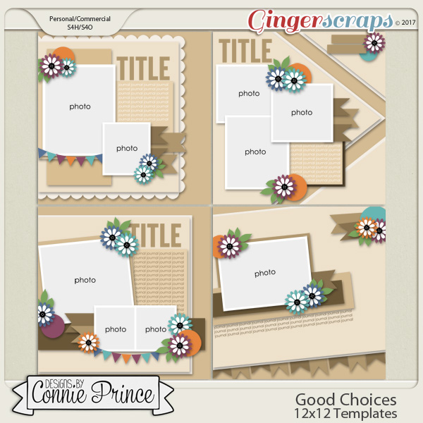 Good Choices - 12x12 Templates (CU Ok)