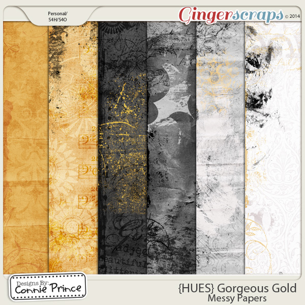 {HUES} Gorgeous Gold - Messy Papers