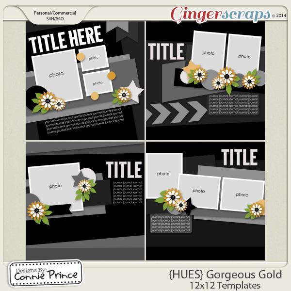 {HUES} Gorgeous Gold - 12x12 Temps (CU Ok)