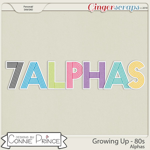 Growing Up 80's - Alpha Pack AddOn by Connie Prince