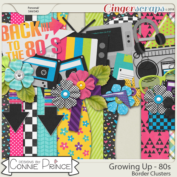 Growing Up 80's - Border Clusters by Connie Prince