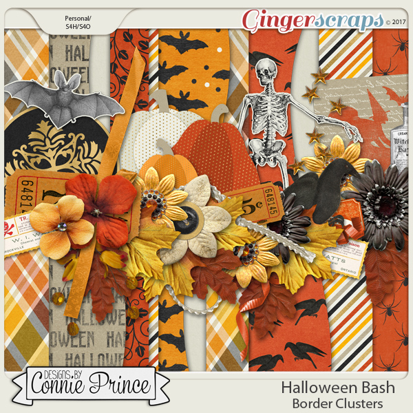 Halloween Bash - Border Clusters