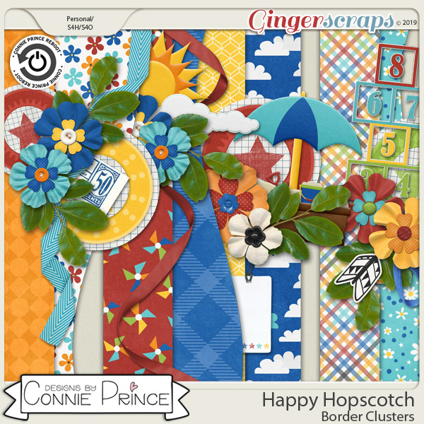 Happy Hopscotch - Border Clusters by Connie Prince