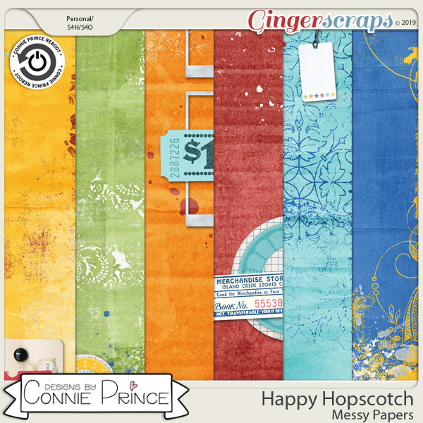 Happy Hopscotch - Messy Papers by Connie Prince