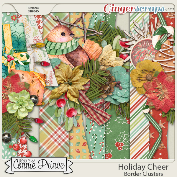 Holiday Cheer - Border Clusters by Connie Prince