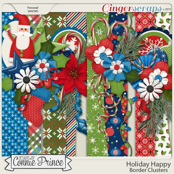 Holiday Happy - Border Clusters
