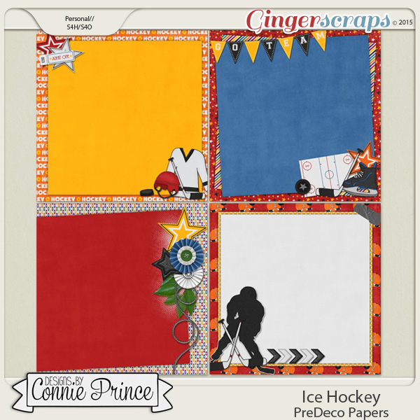 Ice Hockey - PreDeco Papers