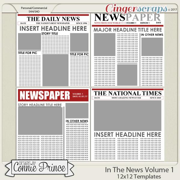 In The News Volume 1 - 12x12 Temps (CU Ok)